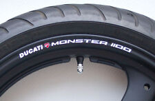 8 x DUCATI MONSTER 1100  Wheel Rim Stickers Decals - Choice of Colours - s4 s4r