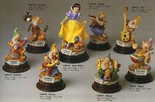 Disney Snow White 8 Figures Laurenz Capodimonte Disney  C.O.A. Original Box