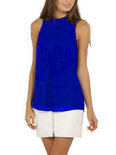 Halter Chiffon Top - Royal Blue