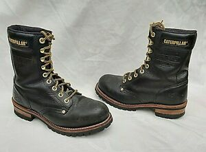 CATERPILLAR CAT DARK BROWN STEEL TOE CAP BOOTS UK7 EU41 WIDE FIT FREE UK P&P!!