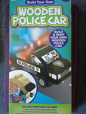 Paint Your Own Wooden Police Car