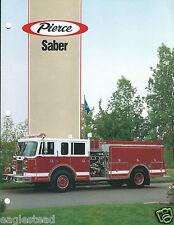 Fire Equipment Brochure - Pierce - Saber - Baltimore City et al - c1993 (DB211)