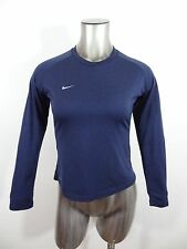 Nike women's fitted long sleeve t-shirt blue S