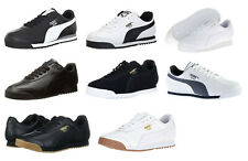 Puma Roma All Black, Black, White, Grey, Navy Gum Sneakers Trainers Tennis Shoes