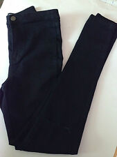 Primark Dark Blue Rip Knee High Waist Skinny Jeggings