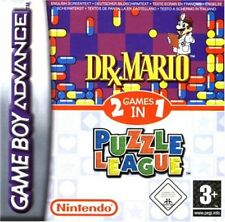 Dr. Mario & Puzzle League Nintendo Game Boy Advance GBA With Box And Manual