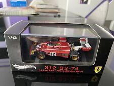 Hotwheels Elite 1/43 Ferrari 312 B3-74 France GP 1974 N. Lauda (Limited Ed)
