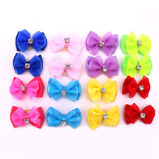 New Pet Dog Hair Bows Topknot with Rhinestone Pet Dog Grooming Bows Pet Supplies