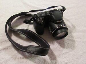 Used Nikon Coolpix L340 20.2MP Digital Camera - Black (C)