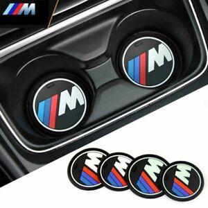 2 x BMW M Performance Silica Gel Anti-Slip Cup Holder Mats for X3 X4 5 7 Series