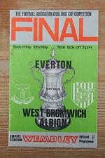 1968 FA CUP FINAL PROGRAMME - ORIGINAL