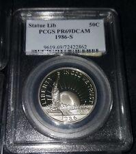1986-S Statue of Liberty Centennial Silver 50c Commemorative PCGS PR69 DCAM