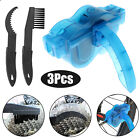 Bicycle Chain Cleaner Bike Wash Tool Cycling Scrubber Cleaning Brushes Wheel Kit
