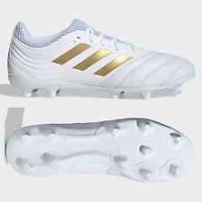 adidas Copa 19.3 FG Mens Football Boots Leather White Gold SIZE 6 7 8 9 10 11