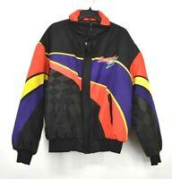Vintage Snap On Motorsport Made USA Black Purple Colorblock Full Zip Jacket XL
