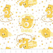 Care Bears Funshine Bear White Camelot 100% cotton fabric by the yard