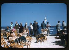 1950s  Photo slide Swedish Ship MS Gripsholm Ladies bathing suits swimsuit #5