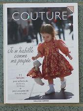 Livre COUTURE Je m'habille comme ma poupée vêtements poupées de chiffon 35 cm