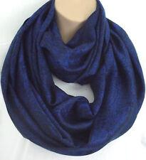 Silk (50%) & Viscose Lrg Vibrant Blue & Black Paisley Infinity Scarf Snood New