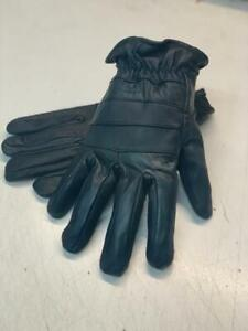Mens Motorcycle Gloves Black Leather Touring Harley Street  S/M/L/XL/2XL/3XL/4XL