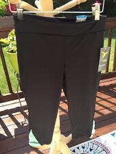 NWT New Girl's Old Navy Active Black Cropped Capri Pants L Large 10 12