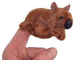 Animals of Australia Finger Puppet Wombat