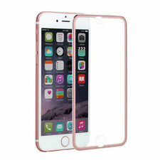 For iPhone 8 Plus Curved 3D Tempered Glass Screen Protector Metal Edge Rosegold
