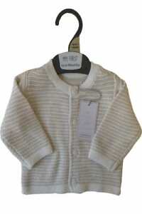 BNWT Mothercare Neutral Cardigan TB to 9 Months - Free 1st Class Postage