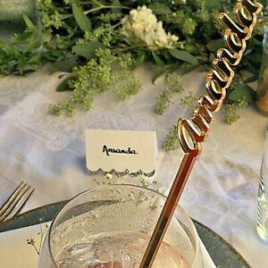 Personalized swizzle sticks Table centerpiece Custom name Wedding drink stirrers