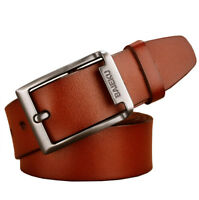 """Big &Tall Size 30-63"""" Top quality Mens Belt 100% Genuine Leather Belt for Jeans"""