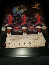 Ronnie Foster Delight Rare Original Promo Poster Ad Framed!