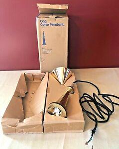 Cog Stack Pendant Brass Light #COGo2UL by Tom Dixon EUC Steampunk Industrial