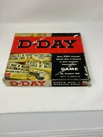 AVALON HILL D-DAY BOARD GAME Ww2 Strategy Conquest COPYRIGHT 1961, USED IN BOX