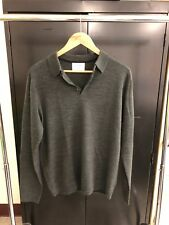 Primark men's Gray long sleeve polo size large