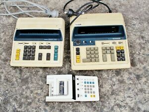 Canon Canola L1423, L1212, P10-D calculator x 3. Vintage retro machine. Works!