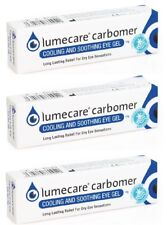 3 x Lumecare Carbomer Cooling & Soothing Eye Gel 10g