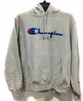 Champion Life Mens Reverse Weave Hood Sweatshirt Pullover Grey Size Medium