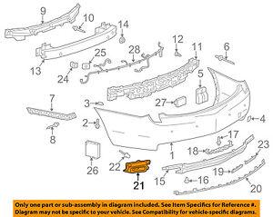 Cadillac GM OEM 13-17 XTS Rear Bumper-Heat Shield Right 20901442
