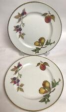 More details for royal worcester evesham plates made in england fruit design