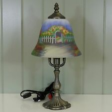 Kaldun & Bogle Glass Flowering Scene Lamp