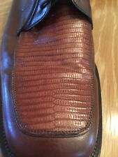 Julio Franco Brown Genuine Lizard accents Skin Men 13 D