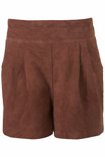 TOPSHOP REAL SUEDE LEATHER SHORTS UK 6 US 2 EUR 34 BNWT £65 SPECIAL COLLECTION