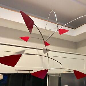 "MOBILE Sculpture  - RedDRAGON XL - 62""w x 24""h  360ModernMobiles"