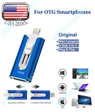 3 In 1 OTG USB Lightning Micro USB Flash Drive 128GB Memory Stick Thumb Pendrive
