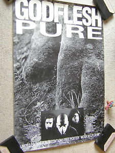 GODFLESH Pure orig UK PROMO-/TOUR-POSTER A2 (42 x 59 cm) EARACHE, gerollt