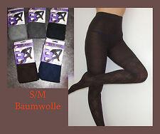 Damenstrumpfhosen aus Baumwollmischung mit Streifen