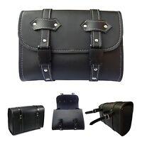 4Fit™ Motorcycle Saddle Luggage PU Leather Side Tool Bag Storage Harley