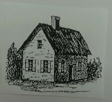 Unmounted Rubber Stamp small Country Cottage