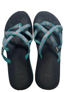 Teva Women's Mush Flip Flops Thongs Sandals S/N # 6840B Size 8 - F27217L