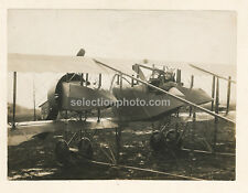 Photo Avion CAUDRON G4 vers 1914 - Tirage Argentique Original d'époque - 17x23cm